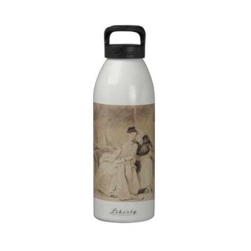 Intimate Conversation by Fragonard Water Bottle