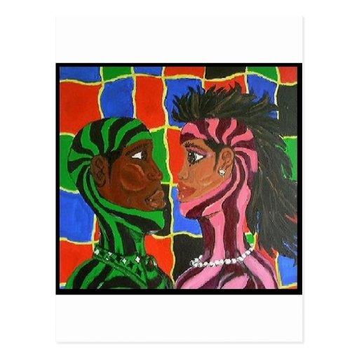 Intimate Couple Postcard