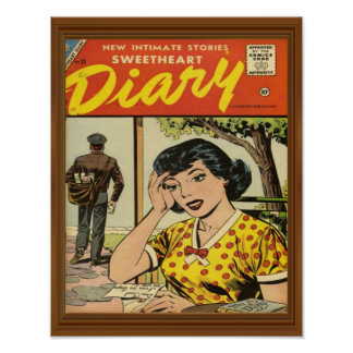 Intimate Romance Sweetheart Diary Comic Poster