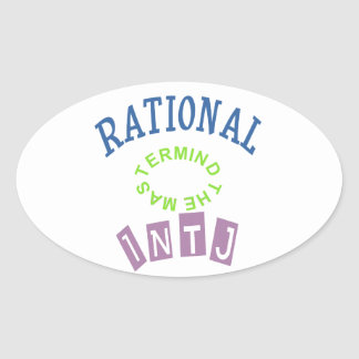 INTJ Rationals Personality Oval Sticker