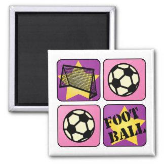Intl Football Square Magnet