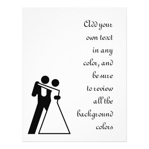 Int'l Sign for Bride & Groom Flyer