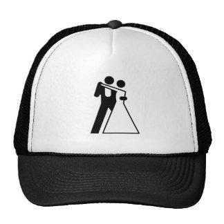 Int'l Sign for Bride & Groom Trucker Hats