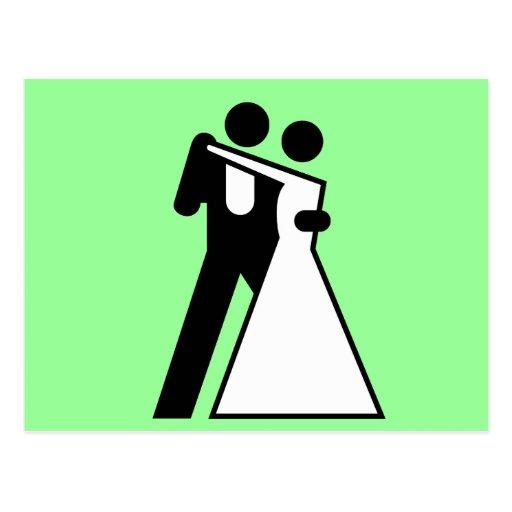 Int'l Sign for Bride & Groom Postcards