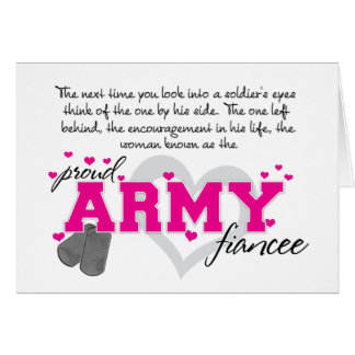 Into a Soldier s eyes - Proud Army Fiancee Greeting Cards