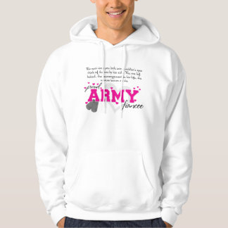 Into a Soldier's eyes - Proud Army Fiancee Hoodie