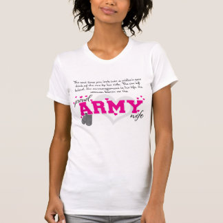 Into a Soldier's eyes - Proud Army Wife T-shirts