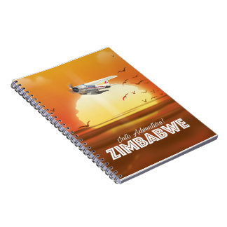 Into Adventure! Zimbabwe travel poster Notebook