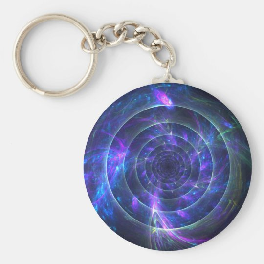 Into the Blue Fractal Keychain