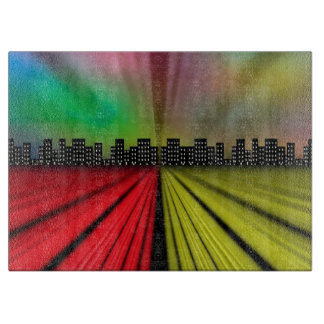 Into the City at Night Cutting Board