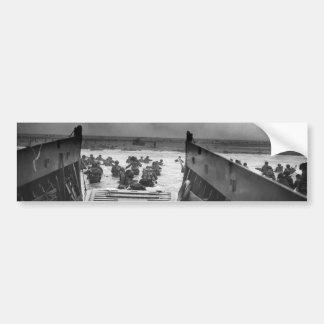 Into The Jaws Of Death LCVP World War II Omaha Bumper Sticker