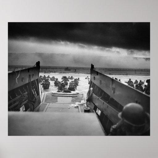 Into The Jaws Of Death LCVP World War II Omaha Print