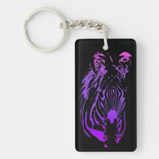 Into the Jungle (Zebra) Double-Sided Rectangular Acrylic Keychain