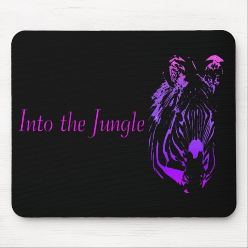 Into the Jungle (Zebra)  ~ Mousepad