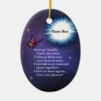 Into The Light Butterfly Christmas Ornament