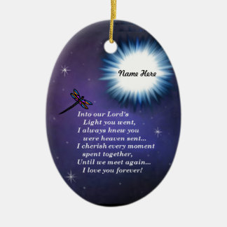 Into The Light Dragonfly Ceramic Oval Decoration