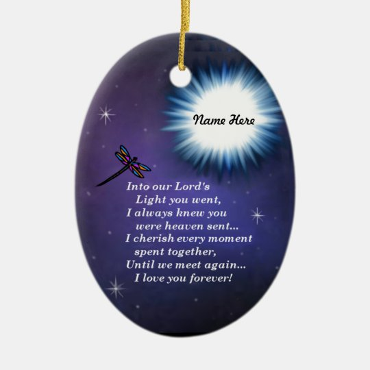 Into The Light Dragonfly Christmas Ornament