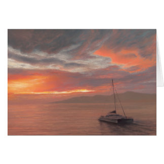 Into the Maui Sunset - Note Card