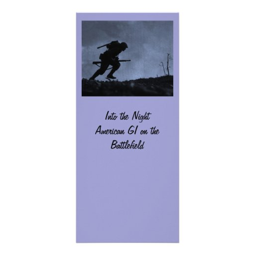 Into the Night a Soldier on the Battlefield Custom Rack Cards