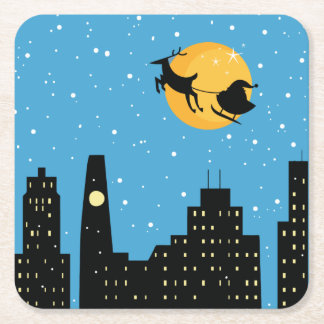 Into the Night Square Paper Coaster