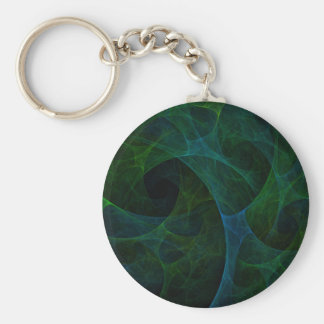 Into The Void Green Basic Round Button Key Ring