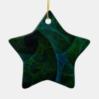 Into The Void Green Ceramic Star Decoration