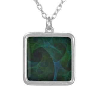 Into The Void Green Silver Plated Necklace