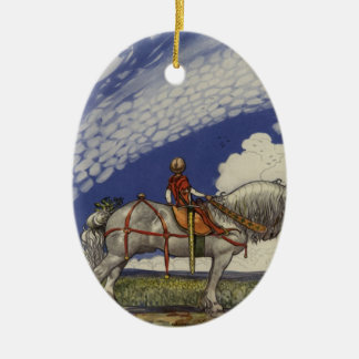 Into the Wide World by John Bauer 1907 Ceramic Oval Decoration