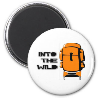 Into The Wild Backpack Fridge Magnet
