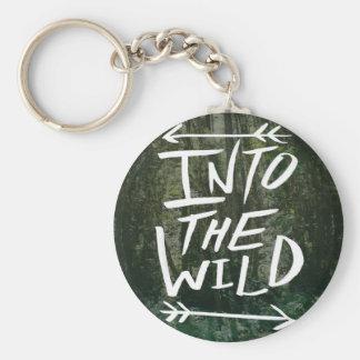 Into The Wild Basic Round Button Key Ring