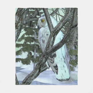 Into The Wild Snowy Owl DECOR WINTER Fleece Blanket