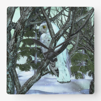 Into The Wild Snowy Owl WINTER DECOR Wall Clocks