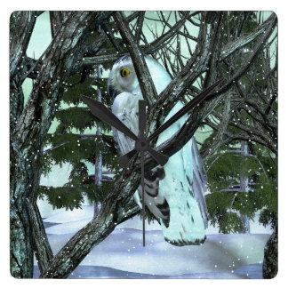 Into The Wild Snowy Owl WINTER DECOR Wall Clocks
