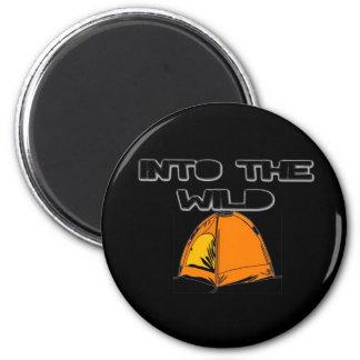 Into The Wild Tent 6 Cm Round Magnet