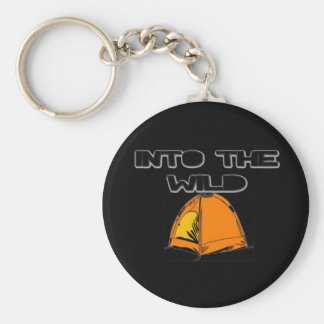 Into The Wild Tent Basic Round Button Key Ring