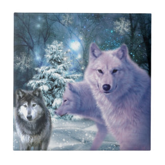 Into The Wild Wolf Art Tile