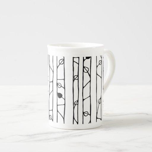 Into the Woods black Bone China Mug Porcelain Mug