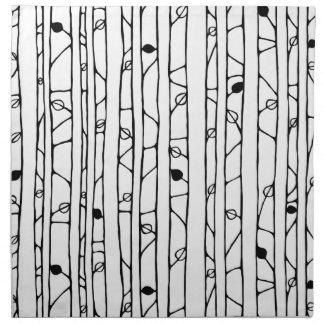 Into the Woods black Cloth Napkins Napkins