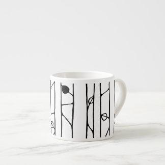 Into the Woods black Espresso Mug