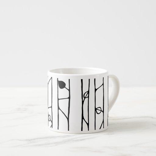 Into the Woods black Espresso Mug Espresso Mugs