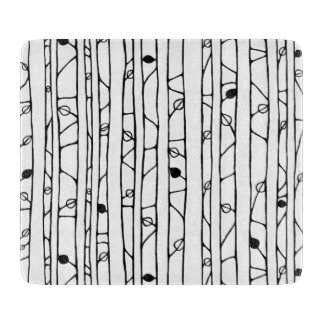 Into the Woods black Glass Cutting Board small