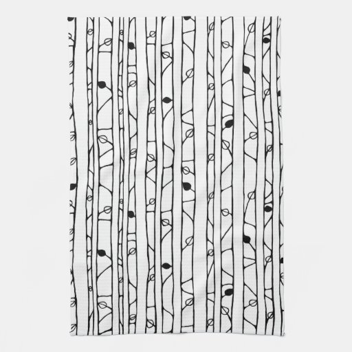 Into the Woods black Kitchen Towel Hand Towels