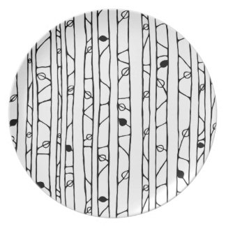 Into the Woods black Melamine Plate Party Plates