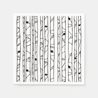 Into the Woods black Paper Napkins Paper Napkin