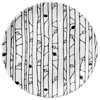 Into the Woods black Porcelain Plate
