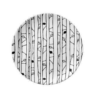 Into the Woods black Porcelain Plate small Porcelain Plate