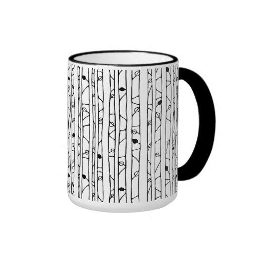 Into the Woods black RInger Mug Coffee Mugs