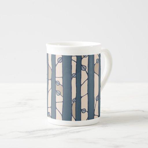 Into the Woods blue Bone China Mug Porcelain Mugs
