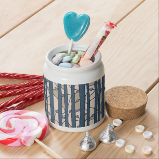 Into the Woods blue Candy Jar Candy Dish