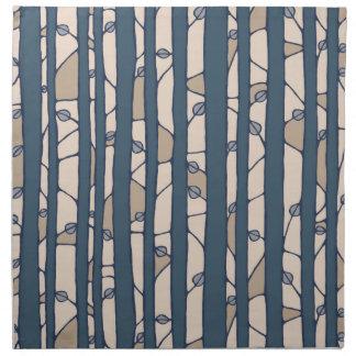Into the Woods blue Cloth Napkins Cloth Napkins